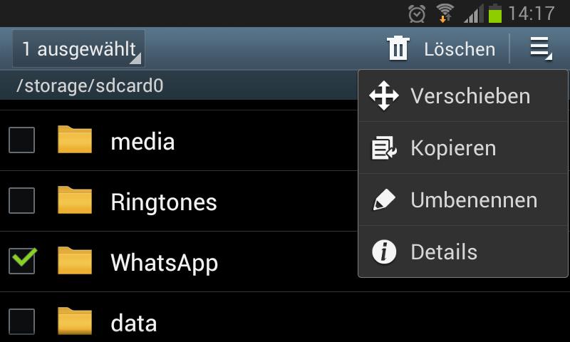 whatsapp auf sd karte verschieben samsung WhatsApp Backup: Nachrichten sichern und wiederherstellen