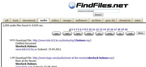findfiles search