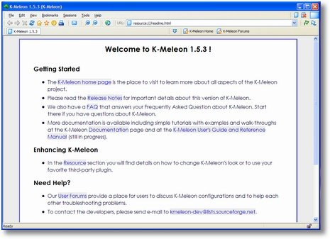 K-Meleon Screenshot