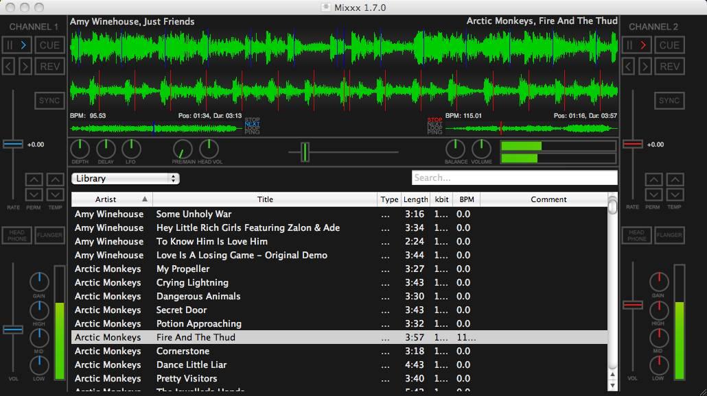 dj programm kostenlos digitale mixer f r pc mac und als app. Black Bedroom Furniture Sets. Home Design Ideas
