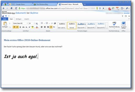 office 2010 webapp