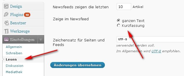 wordpress-rss-feed-backend