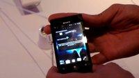 Sony Xperia miro: Einsteiger-Smartphone mit Android 4.0 im Hands-On [IFA 2012]