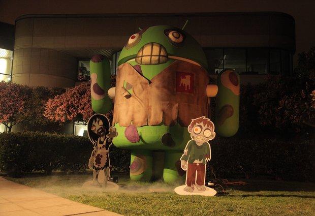 Zombie Smash: Zynga verwandelt Google-Statue in einen Zombie